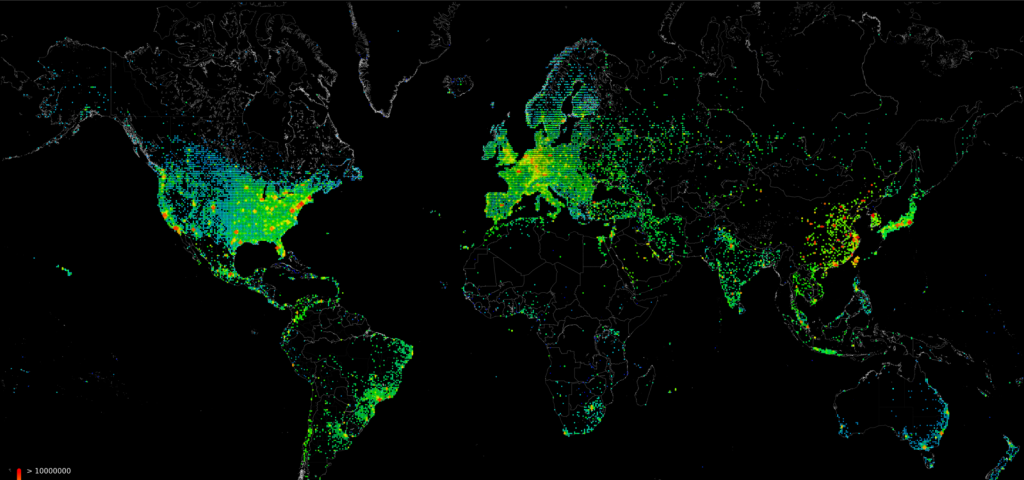 Hackers create Worldwide map of Vulnerable Devices