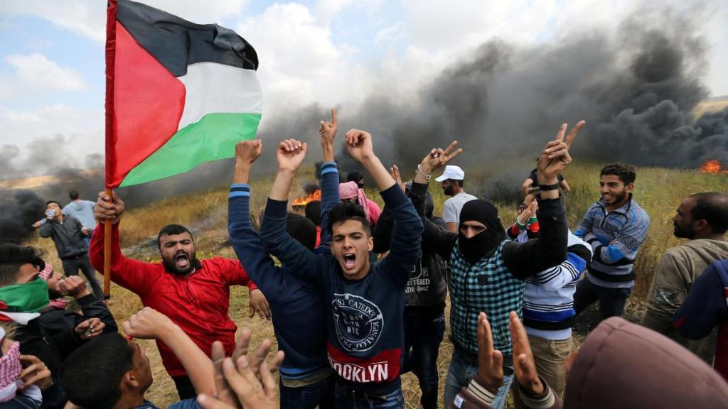 gaza border clash protest israel