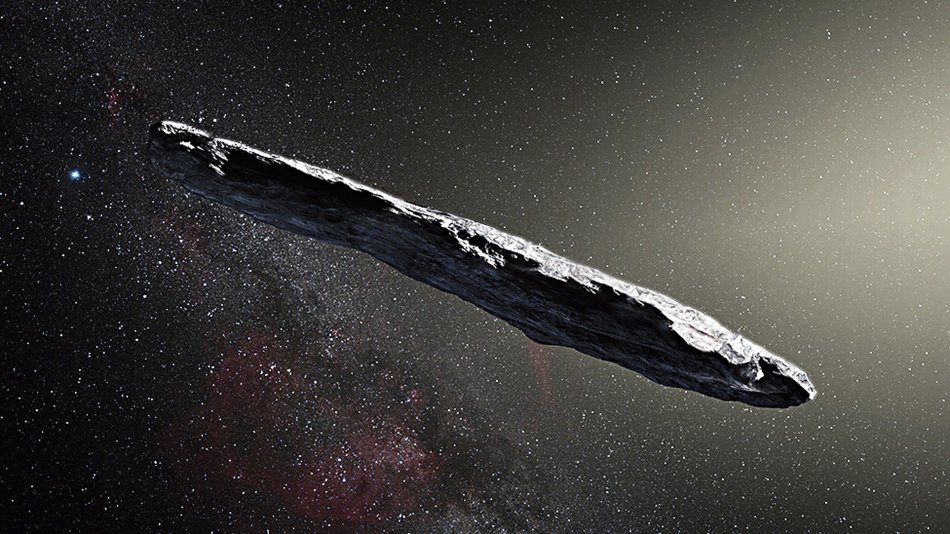 Illustration of Oumuamua. Credit: European Space Organisation/M Kornmesser