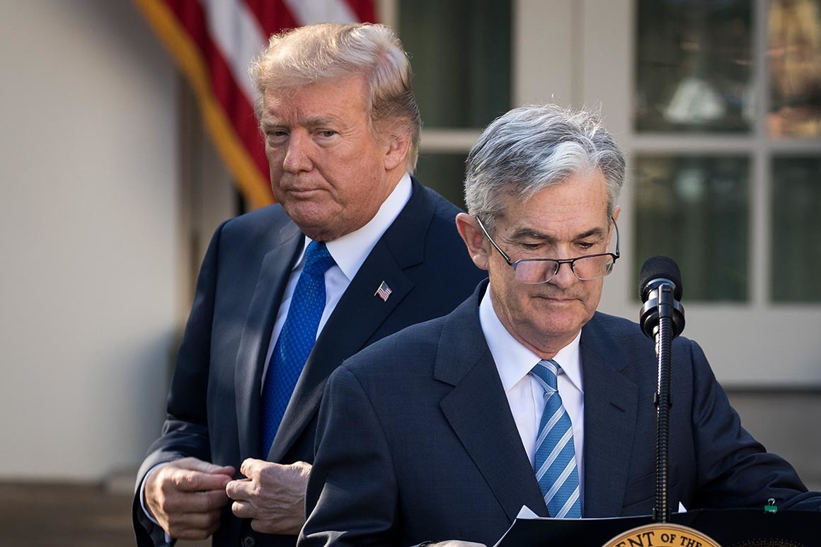 Donald Trump criticises Powell over Federal Reserve interest rate hike